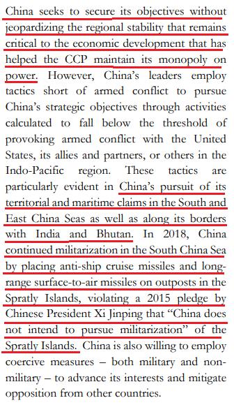 china objectives