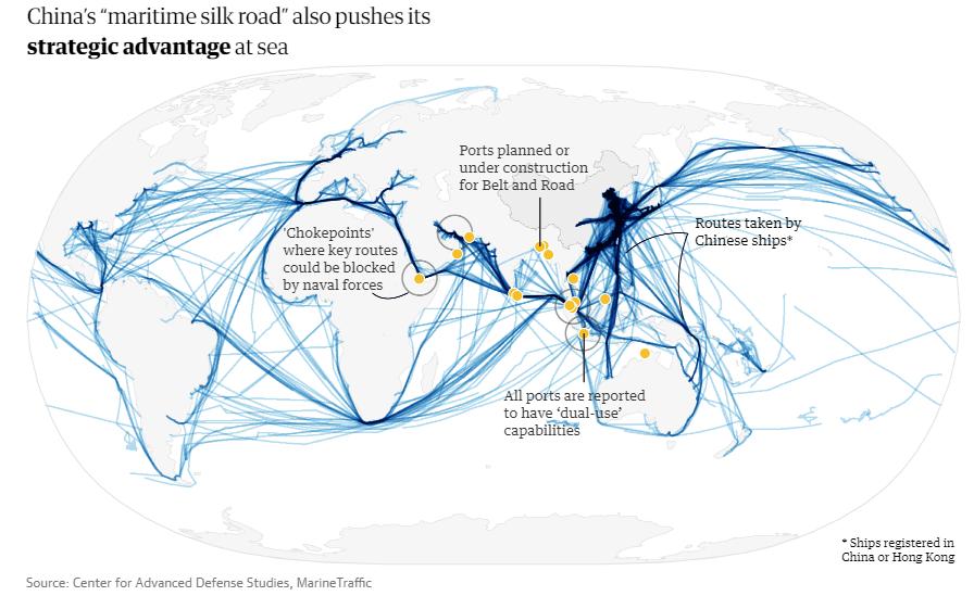 rutas marítimas china
